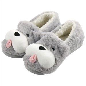 Fuzzy Puppy Dog Women Slippers Non-Slip